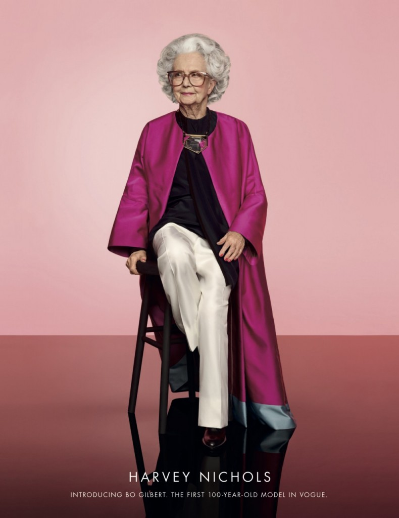 Vogue 100 year-old model